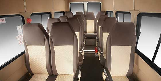 Tata Winger Interior seats
