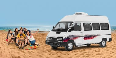 Tata Winger Tourist van LH view