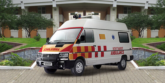Tata Winger Ambulance LH view