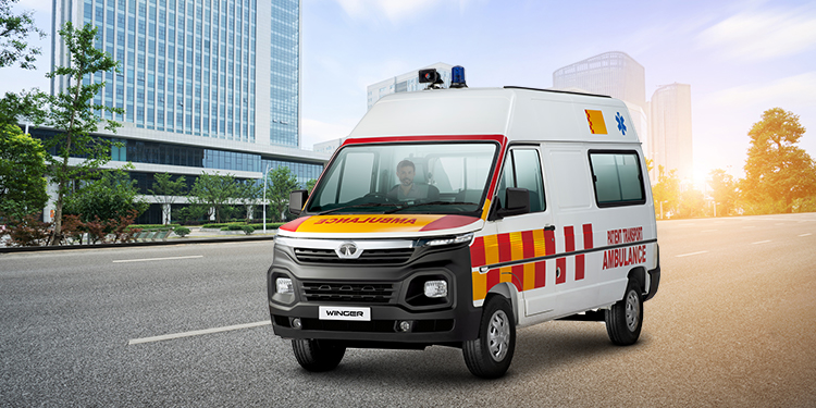 What are the Features and Mileage of the Tata Winger Ambulance