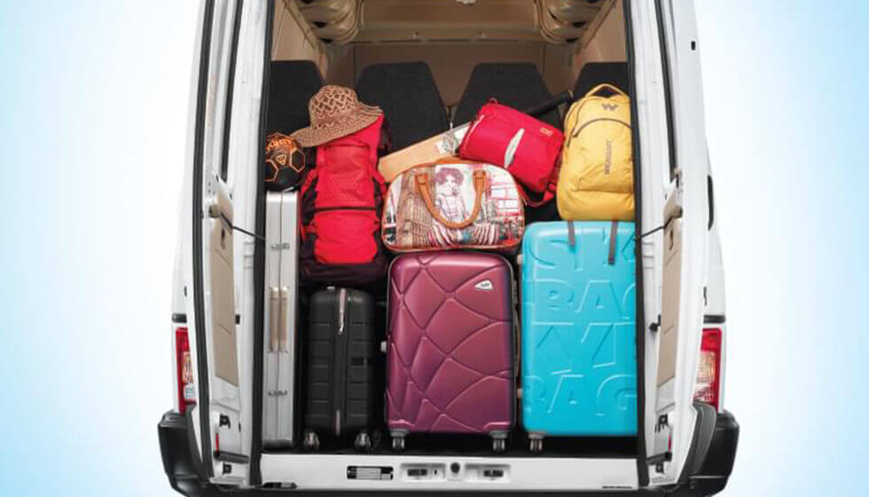 Tata Winger 12S seater Van Luggage Space