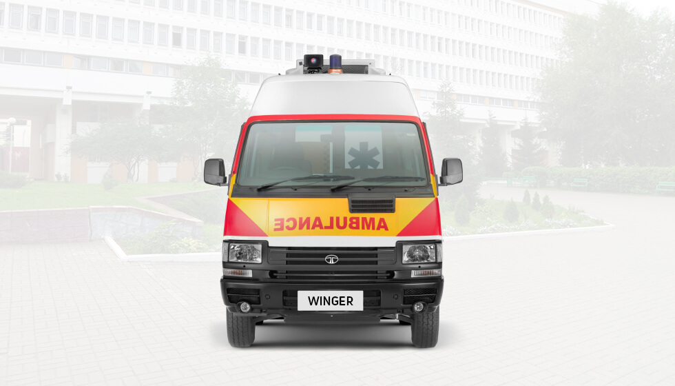 Tata winger Ambulance Front View