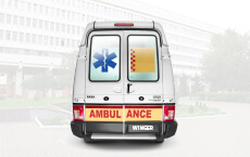 Tata Winger Ambulance rear side small