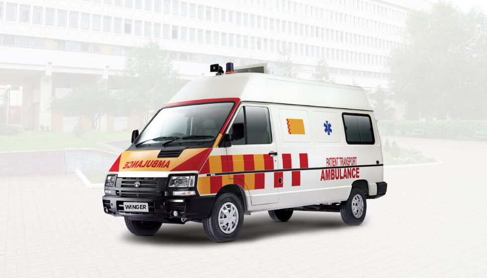 Tata Winger Ambulance LH Side
