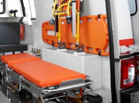 Tata Winger Ambulance Stretcher view