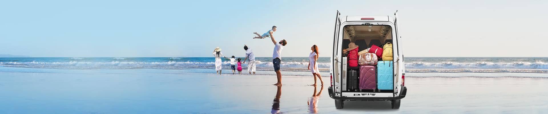 Tata Winger Tourist van family view