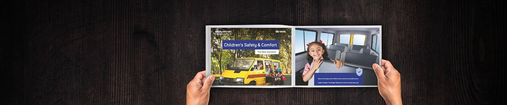 Tata Winger School van Brochure