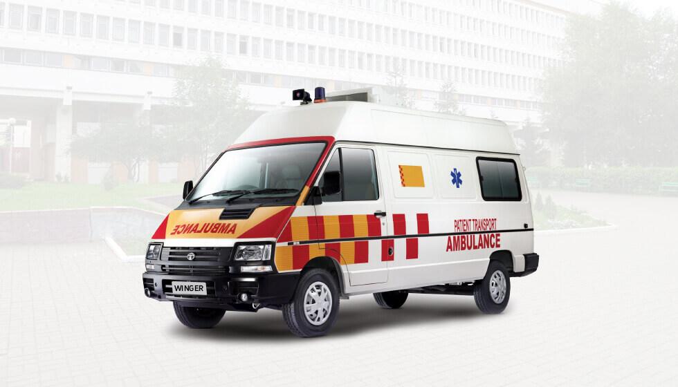 Tata Winger Ambulance LH Side