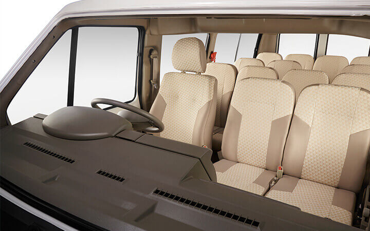 Tata Winger staff Driver seats view